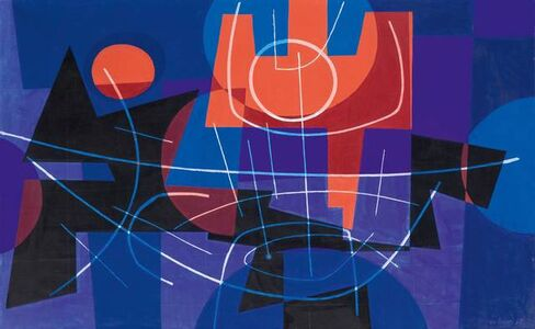 Leo Leuppi, 'Trident rouge', 1958