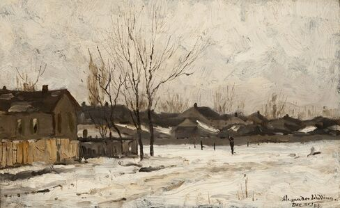 Alexander Shilling, 'Winter Road', 1883