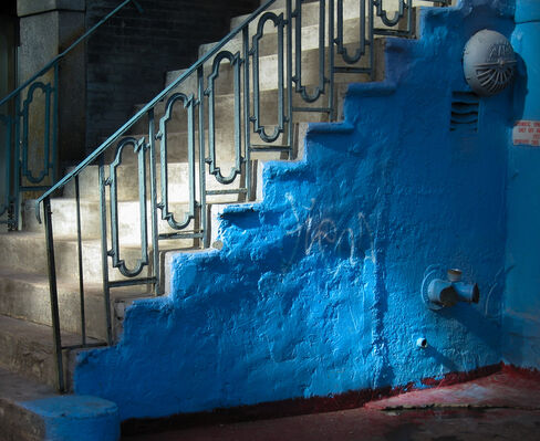 """Richard Rivera's """"Touch of Blue"""", installation view"""