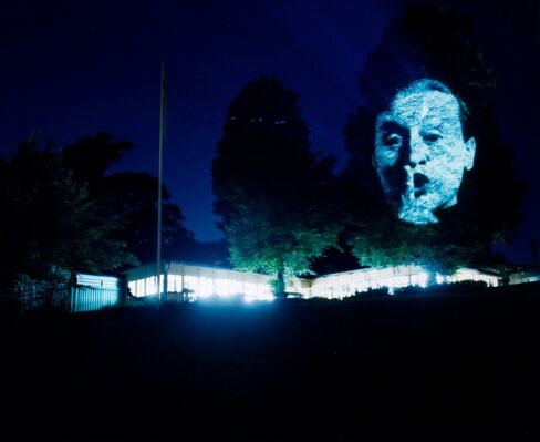 Tony Oursler: M*r>0r, installation view