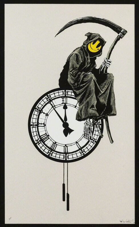 Banksy, 'Grin Reaper - Signed ', 2005, Print, Screen print on paper, Hang-Up Gallery