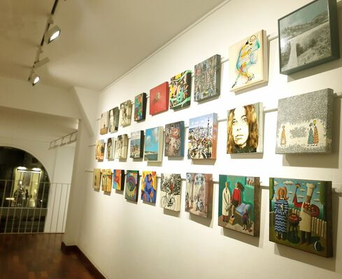 Small format artworks to begin the year, installation view