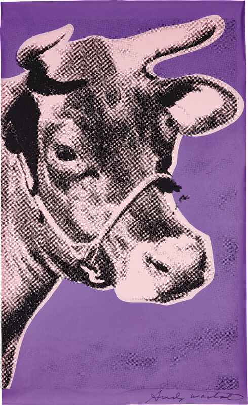 Andy Warhol, 'Cow', 1976, Print, Screenprint in colors, on wallpaper, left and right selvedged edges trimmed., Phillips