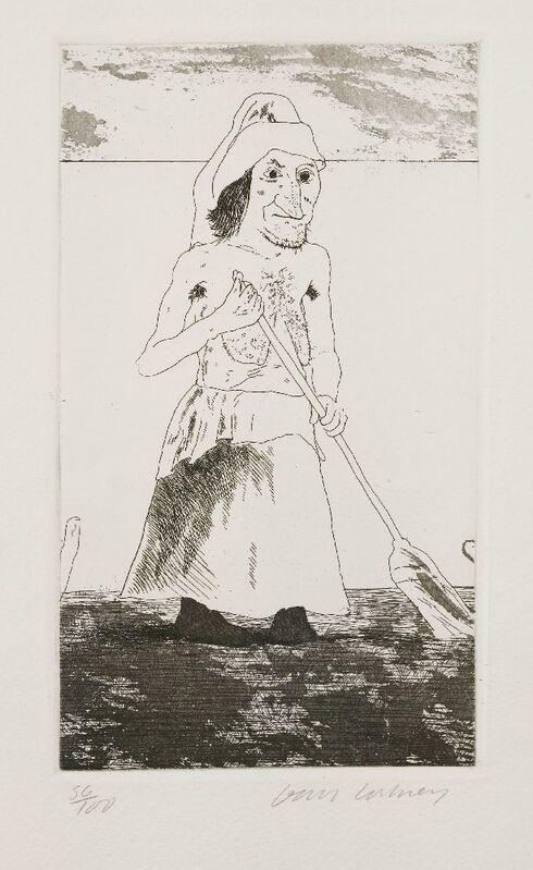 David Hockney, 'The Enchantress In Her Garden', 1969, Print, Etching and aquatint, Sworders