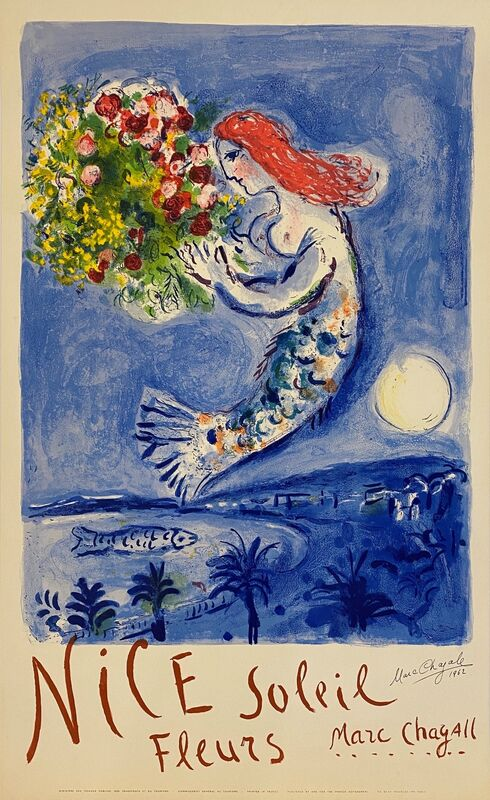 Marc Chagall, 'The Bay of Angels.', 1962, Print, Lithographic poster, Art Antika