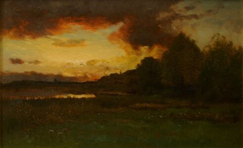 Charles Harry  Eaton, 'Sunset After a Strom', ca. 1890