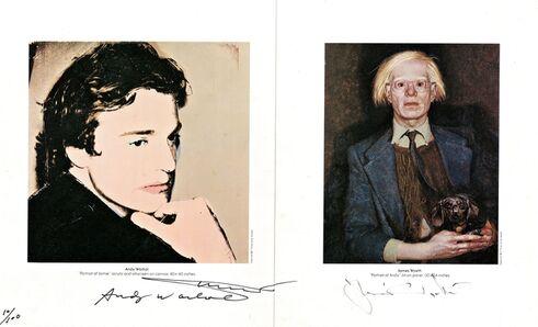 Andy Warhol, 'Andy Warhol & Jamie Wyeth: Portraits of Each Other (Signed by both Wyeth & Warhol)', 1976