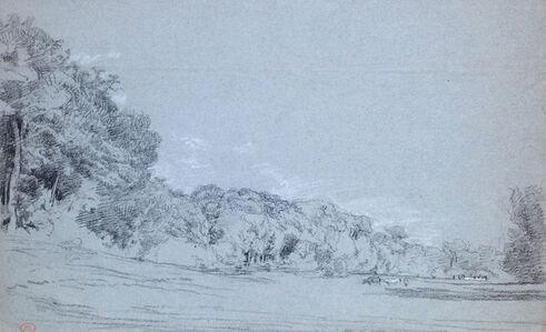 Paul Huet, 'Vaches en lisière de foret', ca. 1820s