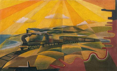 Giulio D'Anna, 'Il treno in corsa', 19219 circa