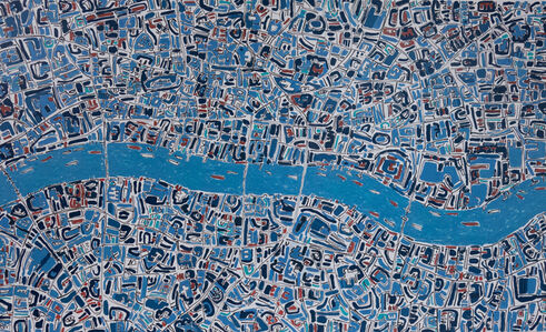 Barbara Macfarlane, 'London Prussian Blue, Terracotta', 2019