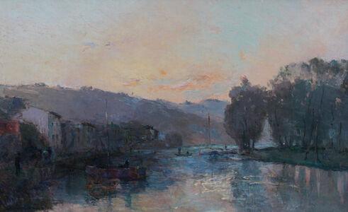 Albert Lebourg, 'La Seine au Bas-Meudon, Soleil Couchant'