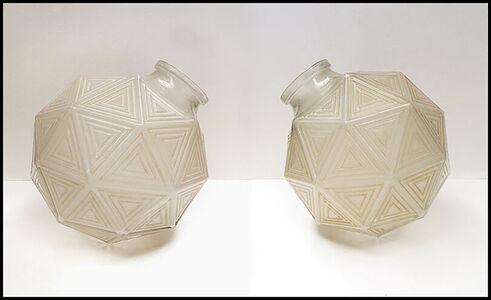 René Lalique, 'Rene Lalique Glass Nanking Plafonniers Vase Signed Authentic Large Pair Antique', Early 20th Century