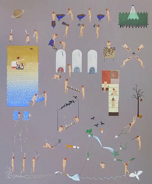 Akira Ikezoe, 'Coconut Heads around the Ceramic Studio', 2019
