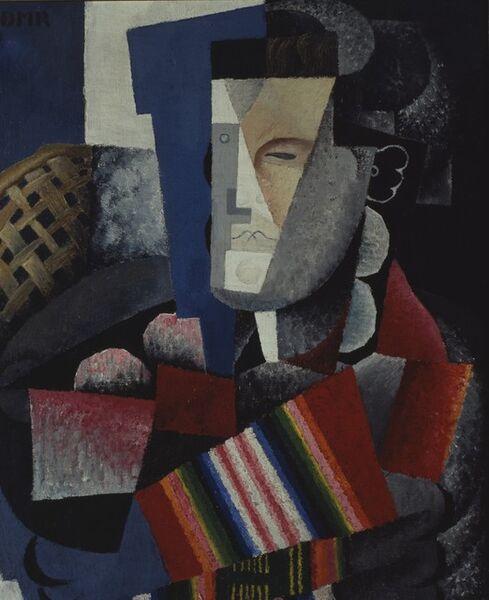 Diego Rivera, 'Portrait of Martín Luis Guzmán', 1915
