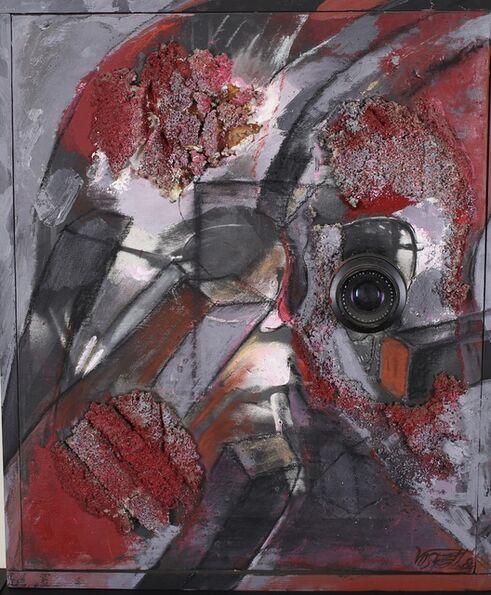Wolf Vostell, 'Portrait of Michael Wewerka ', 1984