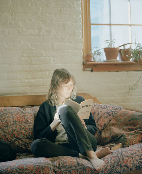 Carrie Schneider, 'Bianca reading Sylvia Plath (Ariel, 1965) , 2014 from the series Reading Women(2012–2014)', 2014