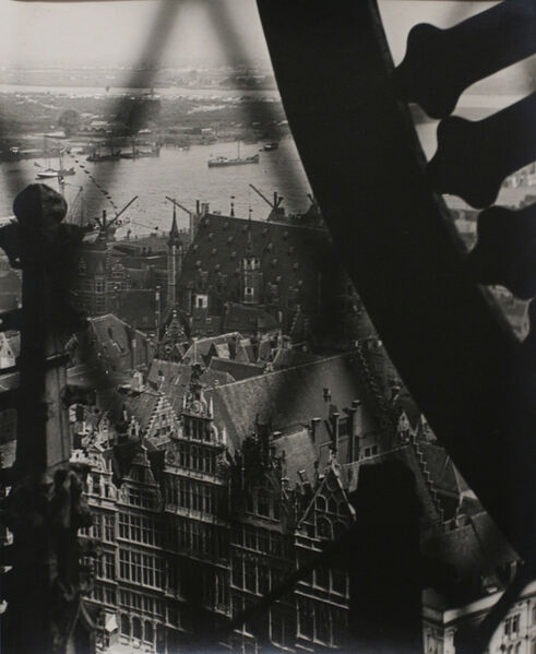 Pierre Dubreuil, 'The Peaks of Antwerp Cathedral', 1925
