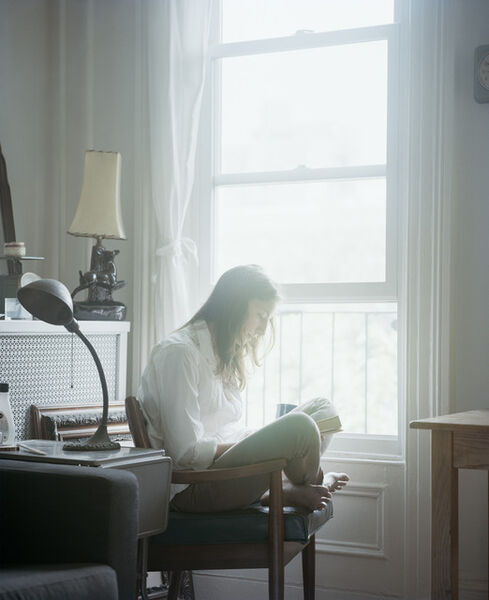 Carrie Schneider, 'Michelle reading Betty Smith (A Tree Grows in Brooklyn, 1943) from the series Reading Women (2012–2014)', 2014