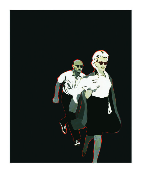 Rosalyn Drexler, 'Marilyn Pursued by Death', 1963