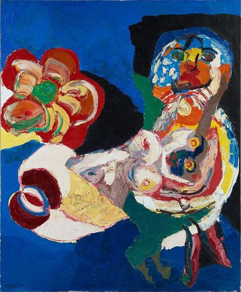 Karel Appel, 'Woman with flower', 1966