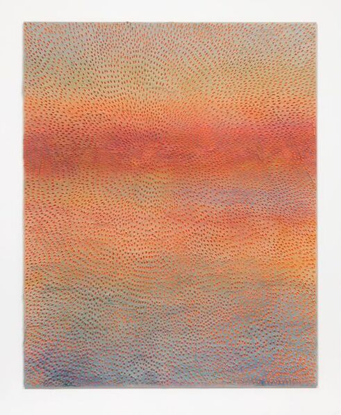 Jennifer Guidi, 'Sunset (Painted Light Pink Grey Sand SF #1F, Orange Blue Pink Lavender and Yellow)', 2017