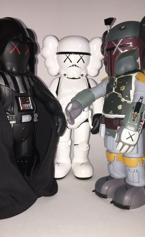 KAWS, 'Star Wars Companions (set of three)', 2007, Sculpture, Painted cast vinyl, Lougher Contemporary