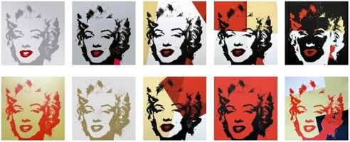 Andy Warhol, 'Sunday B. Morning 'Golden Marilyn' Portfolio', 2011