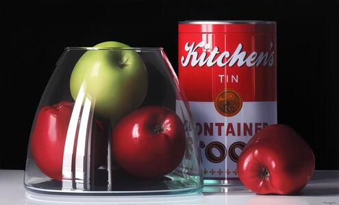 Pedro Campos, 'Four Apples and a Tin', 2018