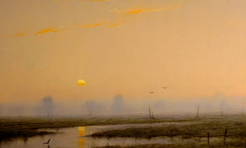 William R. Davis, 'Misty Morning on the Marsh', 2018