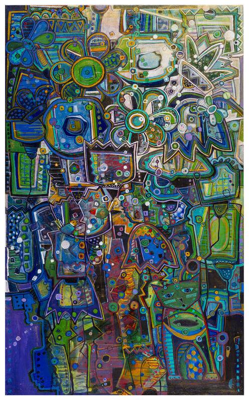 Rae Heint, 'Flower Garden 1', 2015, Painting, Acrylic on Canvas, RLS Gallery
