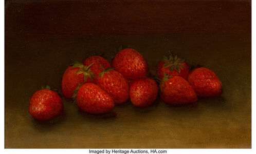 George Henry Hall, 'Strawberries'