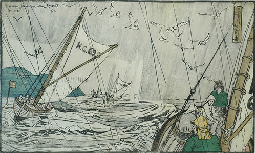 B. J. O. Nordfeldt, 'North Sea Fishermen', 1906