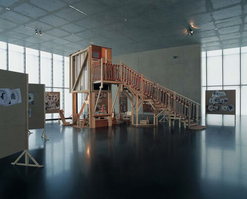 "Gelitin: ""Chinese Synthese Leberkäse"" at Kunshaus Bregenz, installation view"