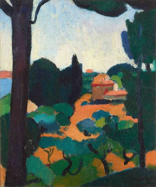 André Derain, 'Paysage à Cassis', 1907