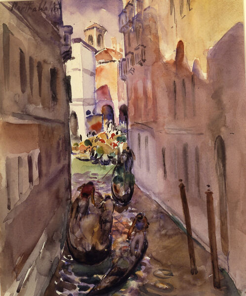 Martha Walter, 'Canals in Venice'
