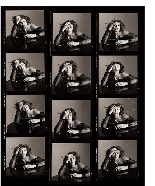 Matthew Rolston, 'Kelly LeBrock as Sloth, Contact Sheet, Los Angeles', 1985