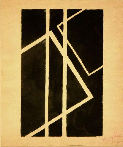 František Kupka, 'Black Geometrical Composition', 1950