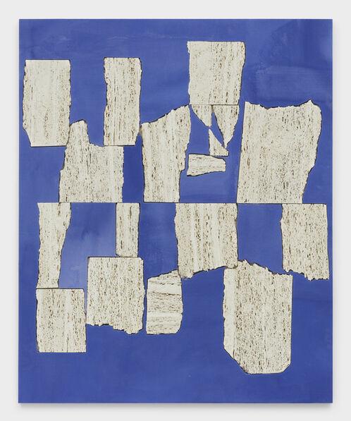 Sam Moyer, 'Blue Wall', 2019
