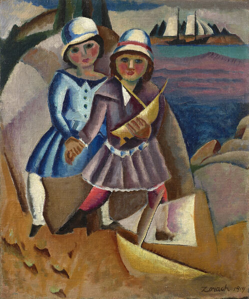 William Zorach, 'Fishermen's Children', 1919