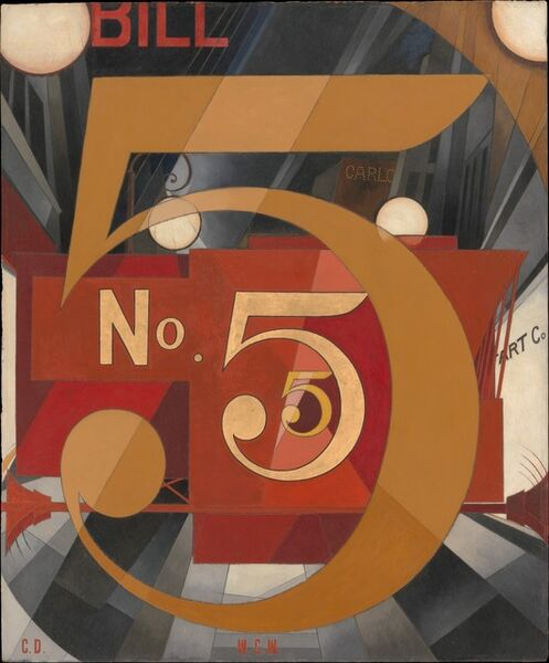 Charles Demuth, 'I Saw the Figure 5 in Gold', 1928