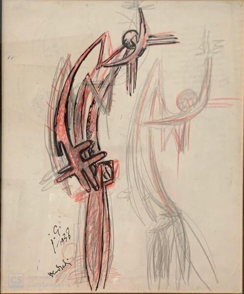 Julio González, 'Personaje insectiforme', 1937