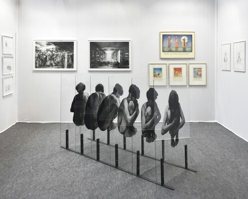 Isabelle Gounod at Drawing Now Paris 2016, installation view