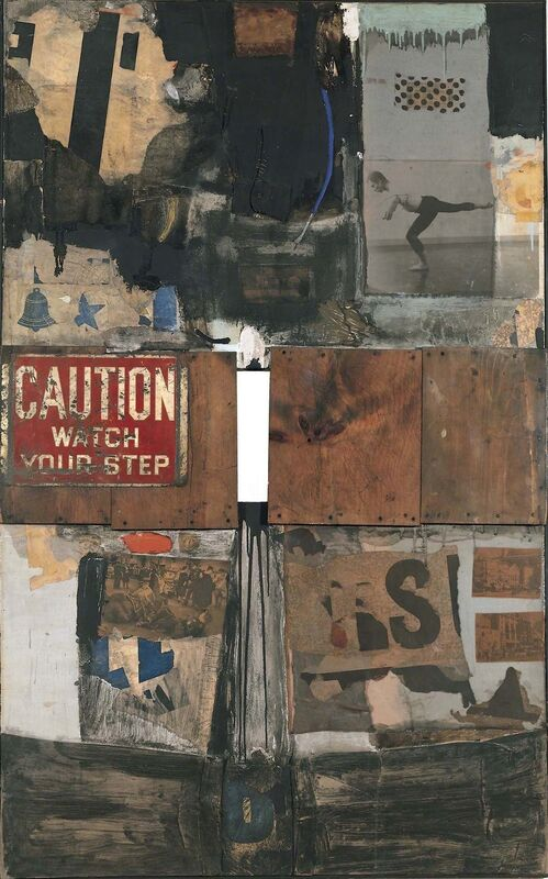 Robert Rauschenberg, 'Trophy I (for Merce Cunningham)', 1959, Combine: oil, graphite, metallic paint, paper, fabric, wood, metal, newspaper, printed reproductions, and photograph on canvas, Robert Rauschenberg Foundation