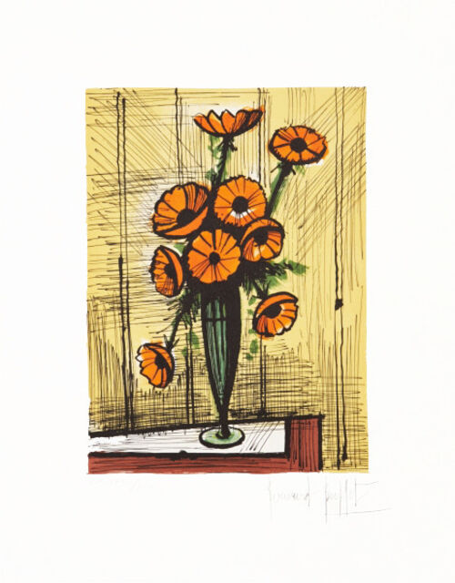 Prime Bernard Buffet Bouquet D Anemones Oranges Available For Sale Artsy Home Interior And Landscaping Ologienasavecom