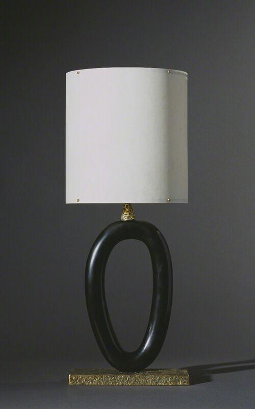 Anne and Vincent Corbiere, 'Ellipse Lamp', Design/Decorative Art, Pear wood, iron, bronze, paper, Twenty First Gallery