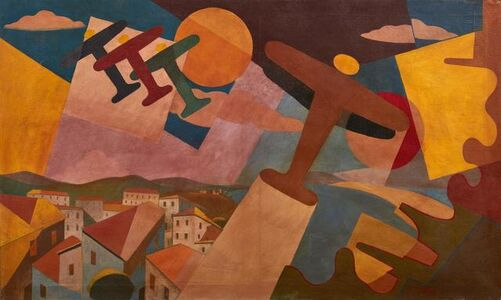 Giulio D'Anna, 'Flock plane + simultaneous landscape', executed in 1935-1936