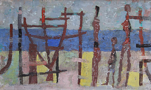 Arnold Blanch, 'The Waterfront', 1955