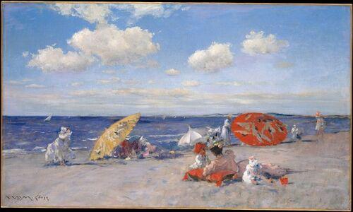 William Merritt Chase, 'At the Seaside', ca. 1892