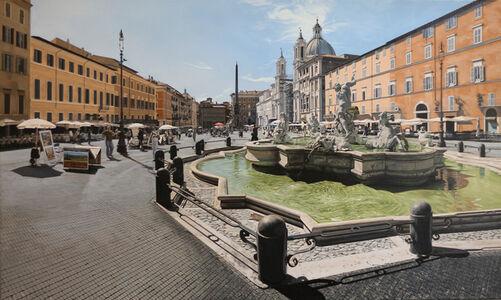 David Wheeler, 'Luce Del Mattino (Piazza Navona, Rome)'