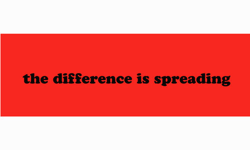 Eve Fowler, 'The Difference is Spreading Bumper Sticker', 2015